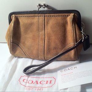 Vintage Coach Clutch Wristlet